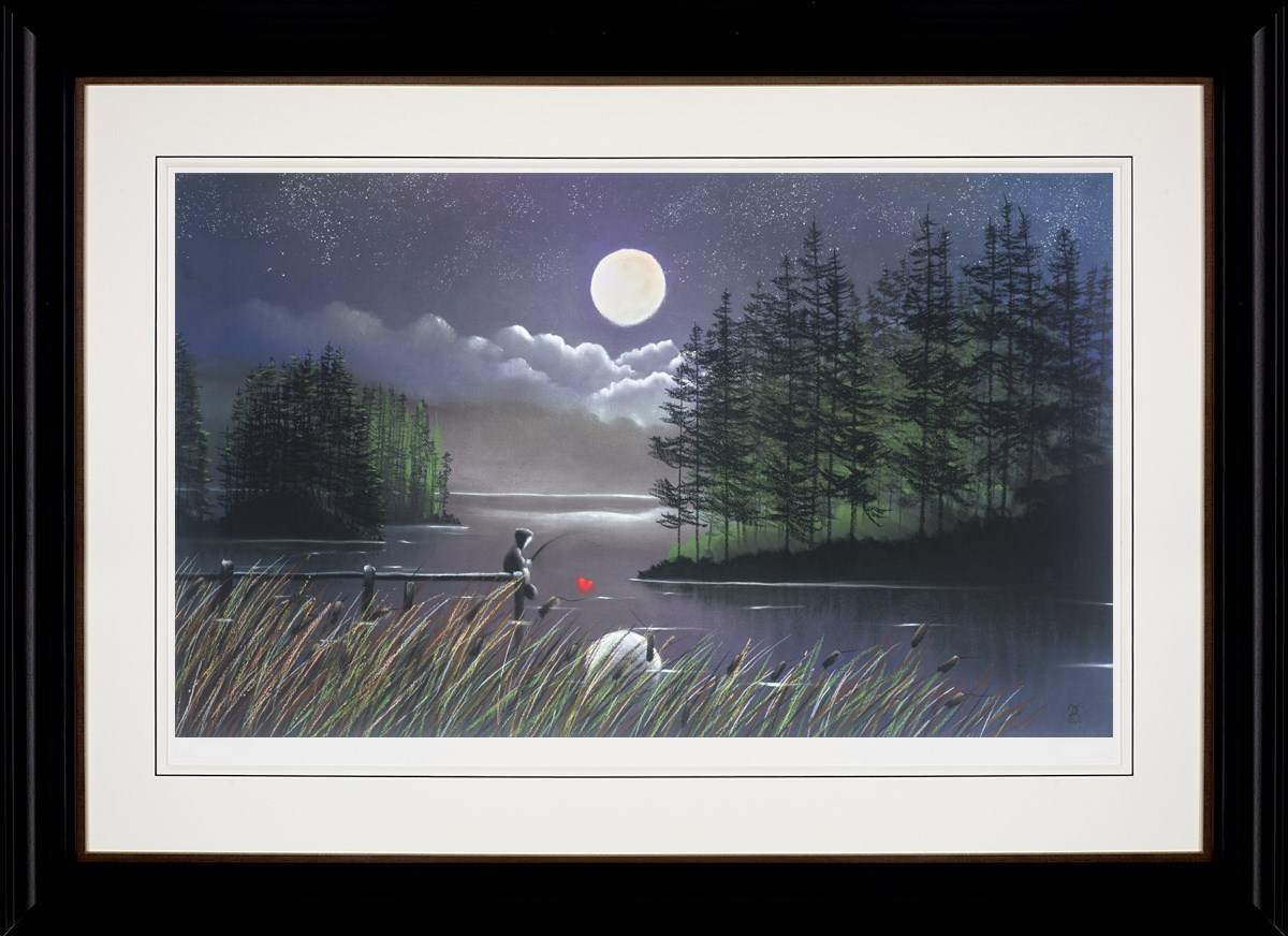 I'll Catch You the Moon by Mackenzie Thorpe - Limited Edition on Paper sized 34x20 inches. Available from Whitewall Galleries